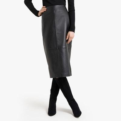 100% authentique 0b8ca d31a2 Jupe en cuir noir femme | La Redoute