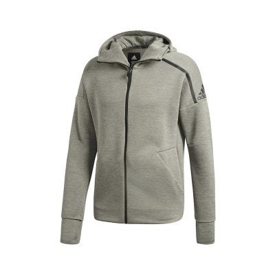 Veste molleton all blacks gris Adidas Performance | La Redoute