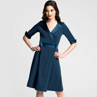 Robe En Soie Bleu La Redoute