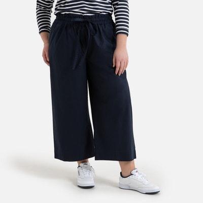 NEUF grande taille élégante Femmes Jersey Pantalon Stretch D BLEU MARLENE style taille 50
