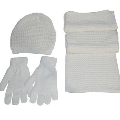 3d28dc5bf674f Bonnet écharpe gants blancs Bonnet écharpe gants blancs CHAPEAU-TENDANCE
