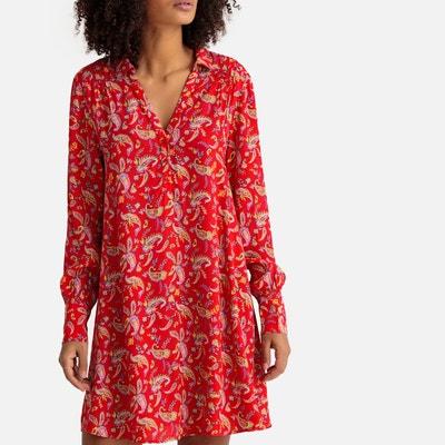 f5d98ebefb28 Robe droite imprimé floral, forme chemise Robe droite imprimé floral, forme  chemise SUD EXPRESS