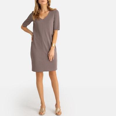 ae1ff57a2200ae Rechte jurk in reliëf tricot Rechte jurk in reliëf tricot ANNE WEYBURN