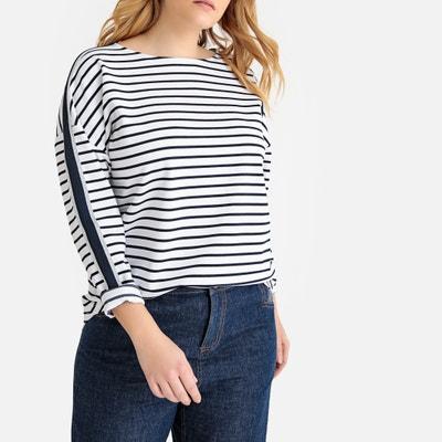 248b8a74e0309d Striped Breton T-Shirt with Stripe Down Sleeve Striped Breton T-Shirt with  Stripe