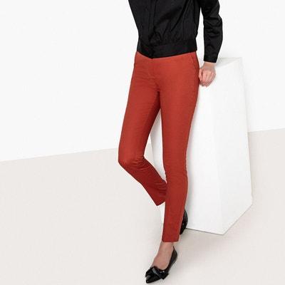 db743625467a Pantalon slim satin de coton stretch Pantalon slim satin de coton stretch  LA REDOUTE COLLECTIONS