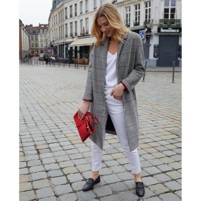 Halflange jas met ruitenprint Halflange jas met ruitenprint LA REDOUTE COLLECTIONS