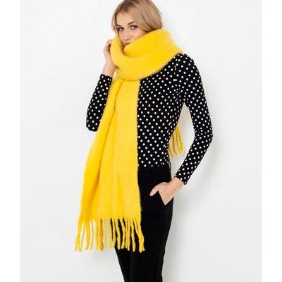 Echarpe femme jaune moutarde en solde   La Redoute bfb913915b3