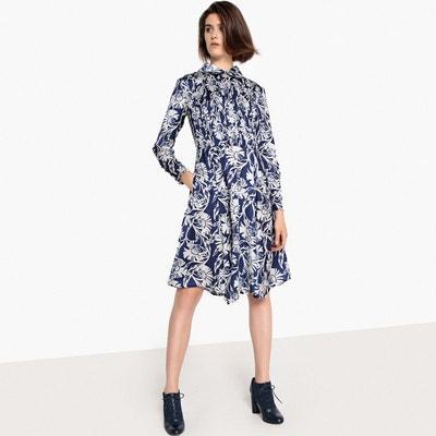 db0ed0fa2eca Robe col chemise imprimé fleurs, manches longues Robe col chemise imprimé  fleurs, manches longues