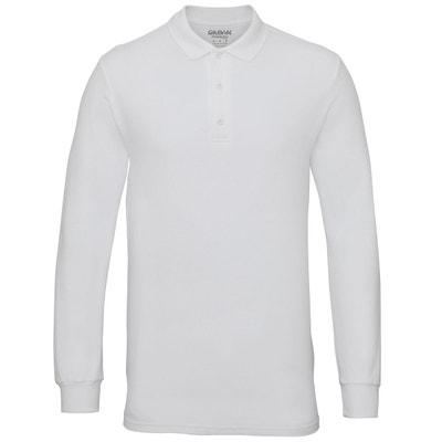 Polo manche longue blanc en solde   La Redoute 9f54977f9b82