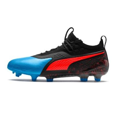 caf102fe8fb2d Chaussures football Puma One 19.1 FG AG  Bleu PUMA