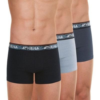 #1 Homme Boxer Plaid Shorts Sous-vêtements Lot Mélange De Coton Slips Paires Pack 3pcs Set