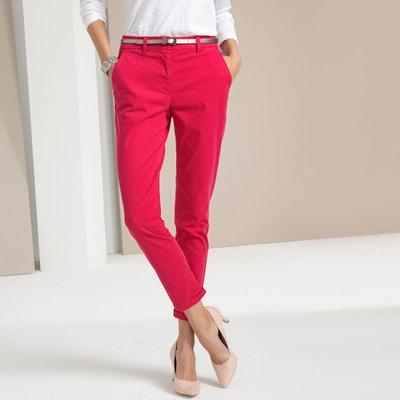 34e9c67ee799fb Pantalon droit chino, sergé stretch Pantalon droit chino, sergé stretch  ANNE WEYBURN