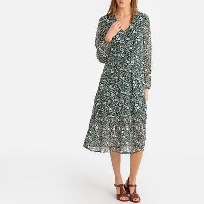 Vestido verde hojas zara