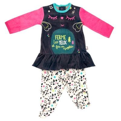 4f28d4ed9ed18 Pyjama bébé 2 pièces avec pieds Wish PETIT BEGUIN