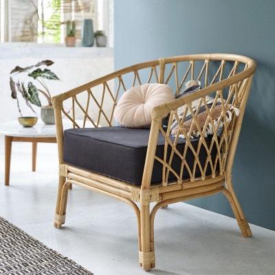 grand coussin pour fauteuil rotin la redoute. Black Bedroom Furniture Sets. Home Design Ideas