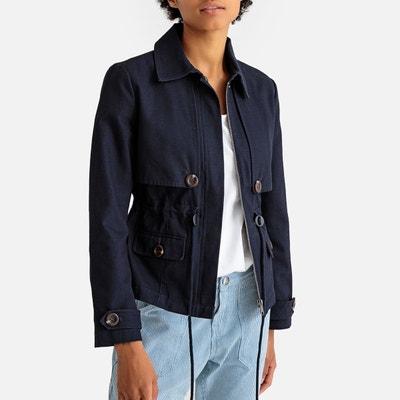 dfdac438d Manteau court bleu marine femme | La Redoute