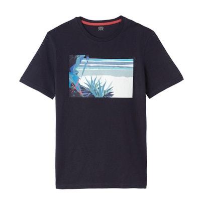 d5a919e191ef T-shirt fantasia scollo rotondo maniche corte puro cotone LA REDOUTE  COLLECTIONS