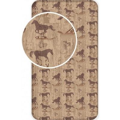 Cheval Equitation - Drap housse Coton - Literie 90 x 200 cm HOME fd69c295fb19
