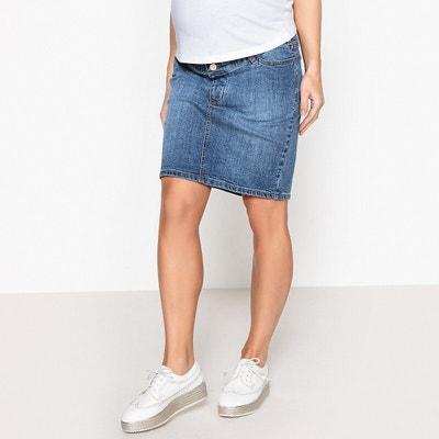 Denim Straight Maternity Skirt, Mid-Length Denim Straight Maternity Skirt, Mid-Length LA REDOUTE COLLECTIONS