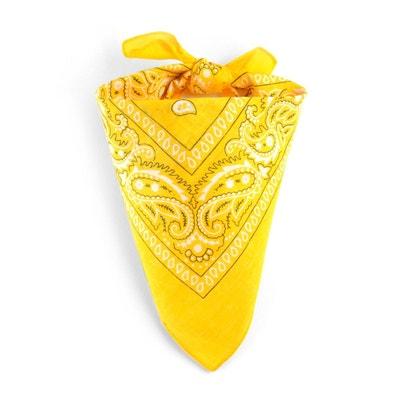 c400e38326f ALLEE DU FOULARD. Foulard bandana jaune impérial