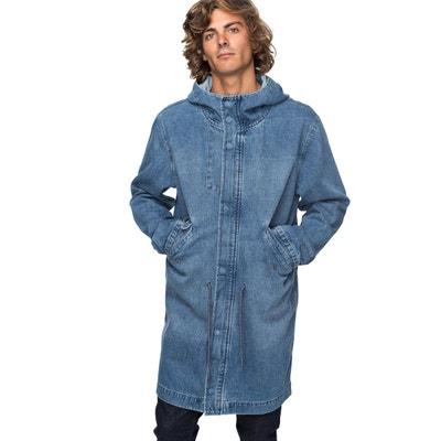 veste jeans long homme