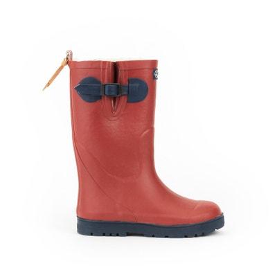 Woody Pop Fur Wellington Boots with Fur Lining AIGLE 477e858519e