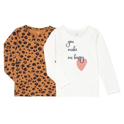 Set van 2 bedrukte T-shirts met lange mouwen 3-12 jaar Set van 2 bedrukte T-shirts met lange mouwen 3-12 jaar LA REDOUTE COLLECTIONS