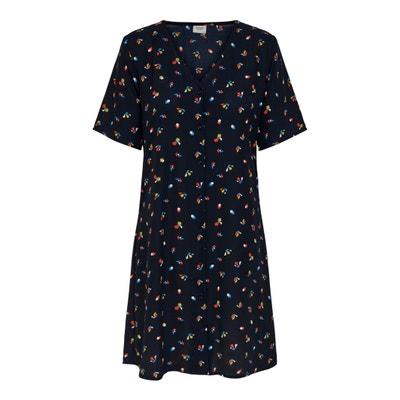 Korte jurk met bloemmotief, korte mouwen Korte jurk met bloemmotief, korte mouwen JACQUELINE DE YONG