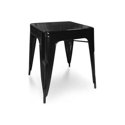 Table empilable noire en métal JET Table empilable noire en métal JET  DECLIKDECO e1be38959075