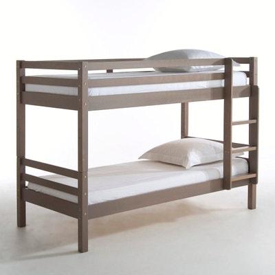 lit pin marron taupe la redoute. Black Bedroom Furniture Sets. Home Design Ideas