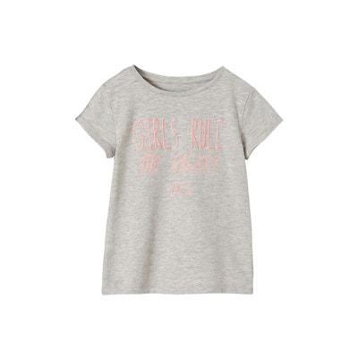 921bd4129c53c T-shirt fille à message fantaisie encre gonflante irisée VERTBAUDET