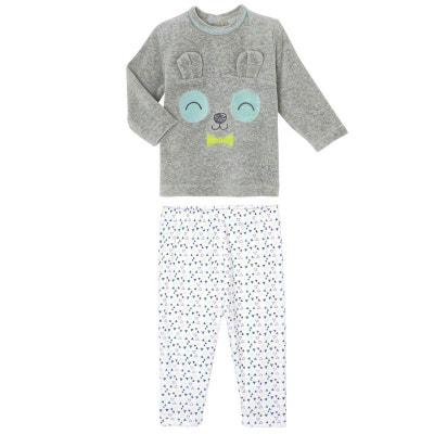 06e6a927ac8b3 Pyjama bébé 2 pièces velours Petit Panda PETIT BEGUIN