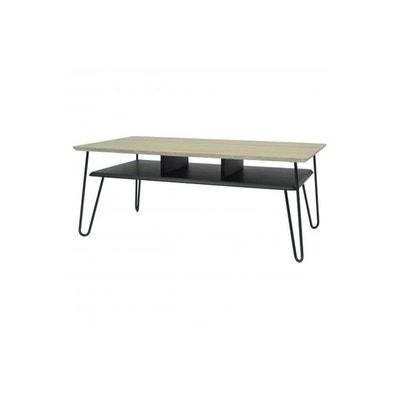 Table Basse Industrielle Bois et Métal Noir FARAH DECLIKDECO ea9f98931ad2