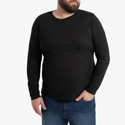 T-shirt met ronde hals en lange mouwen T-shirt met ronde hals en lange mouwen LA REDOUTE COLLECTIONS PLUS
