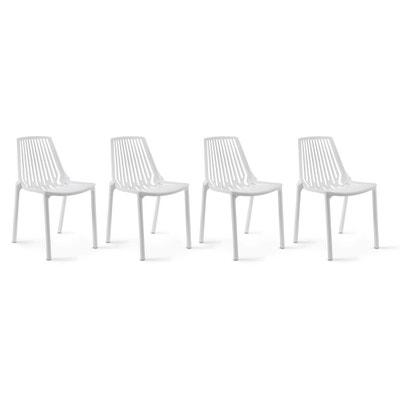 Chaise de jardin plastique blanc | La Redoute