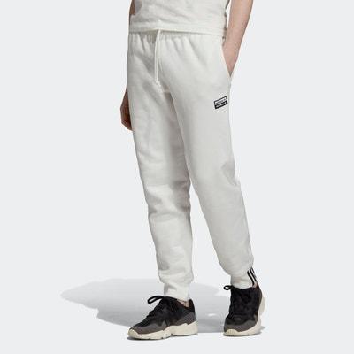 survetement pantalon adidas blanc homme