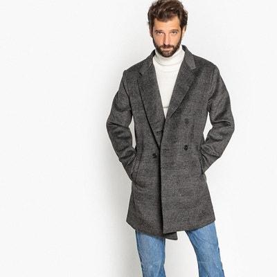 Manteau fermeture croisée à carreaux Manteau fermeture croisée à carreaux  LA REDOUTE COLLECTIONS eba5707a3e3b
