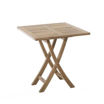 Table Jardin Bois Pliante.Table De Jardin La Redoute