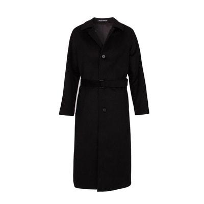 manteau long 100 laine homme
