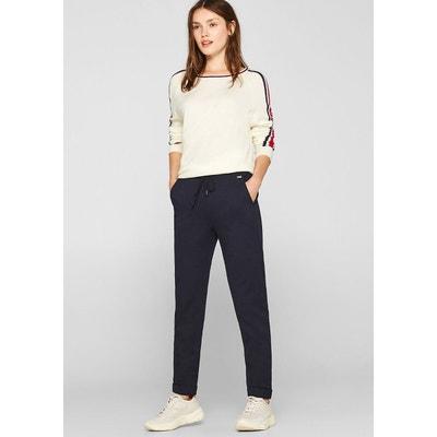 Rechte broek, elastische tailleband, L30 Rechte broek, elastische tailleband, L30 ESPRIT