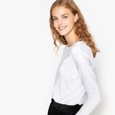 656aceee72d7 Camiseta con cuello barco de algodón orgánico Camiseta con cuello barco de  algodón orgánico LA REDOUTE
