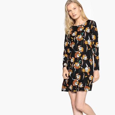 b01614966f Short Floral Print A-Line Dress COMPANIA FANTASTICA