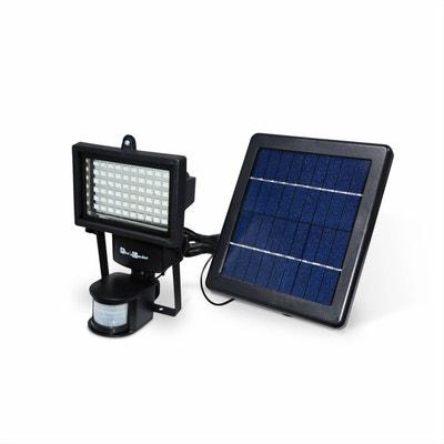 e32635c52e8e89 Projecteur 60 LED solaire 420 lumens, blanc chaud à détecteur de  mouvements, luminaire extérieur