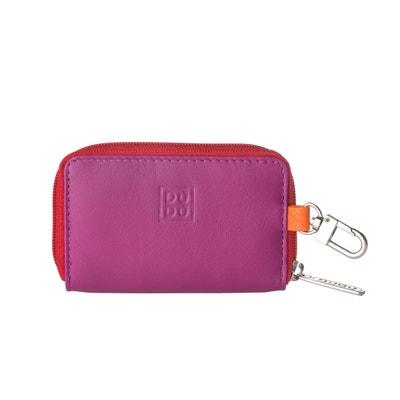 de3a3a1aa0 Porte-clés et Porte-monnaie en Cuir Véritable Nappa Multicolore avec  Fermeture éclair Zip. DUDU