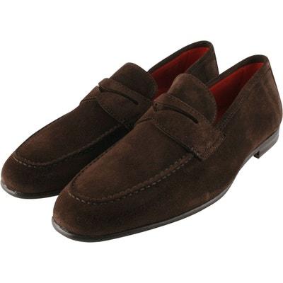 WUIWUIYU Chaussures /à lacets d/écontract/ées en daim pour homme
