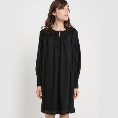 Vestido plisado de algodón LA REDOUTE COLLECTIONS 54ba50c98083
