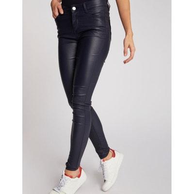 0b25353ba002 Pantalon skinny enduit poches à sequins Pantalon skinny enduit poches à  sequins MORGAN