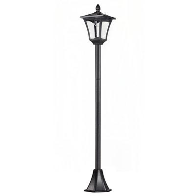 59049c2b4d7e43 Lampadaire extérieur solaire luminaire lanterne LED noir Lampadaire  extérieur solaire luminaire lanterne LED noir HOMCOM