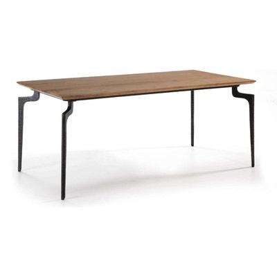 Table basse Jackson ø75 cm bois de mangue fer