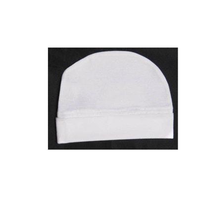 Bonnet blanc coton, naissance au 24 mois POUSSIN BLEU eb2b95fd0dc